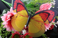 Wholesale Double deck Wings CM Artificial Butterfly Magnet Imitate Really Colorful Butterfly Wedding Gift Home Decoration Fridge Magnets