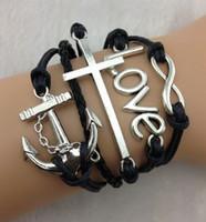 achat en gros de ancre bracelets infini d'amitié-bracelet turquoise, l'infini, l'amour, Ampère d'ancrage; Tube d'argent - turquoise braclet-boho-bracelet personnalisé bracelet-811 amitié
