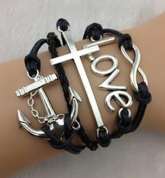 Wholesale teal bracelet infinity love anchor amp silver tube turquoise braclet boho bracelet personalized bracelet friendship