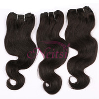Wholesale Cheap Indian Cambodian Brazilian Peruvian Virgin Hair Unprocessed g Body Wave Weaves quot quot Natural Color Pieces Remy Clip In Feather Hair