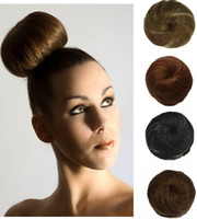 Wholesale New fashion Chignon hair bun ring donut clip color black blonde hair bun piece cover extension