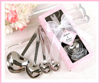Wholesale Lowest Price Love Beyond Measure Heart Measuring Spoons in Gift Box_Pink Wedding Favors sets