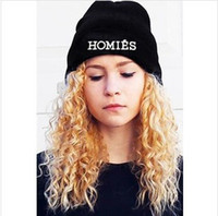 Beanie/Skull Cap homies - Winter Autumn Men Women Hats Hiphop Knitting Hats GD Boy black Homies caps Bigbang beanie