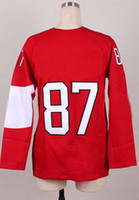 Ice Hockey Women Full Woman's 2014 Sochi Winter Olympics Jerseys Ice Hockey Jerseys Sidney Crosby #87 Girl Red White Black Hockey Jerseys Mix Order
