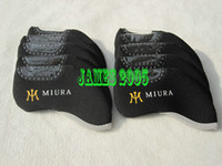 Wholesale 10sets MIURA Golf Irons Headcover Neoprene Golf Headcovers Golf irons black color