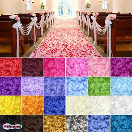 Wholesale Hot Sales Color In a set Rose Flower Petals Confetti Leaves For Wedding Supplies Table Decoration Sx145