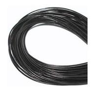 al por mayor cordón negro 1mm-Comercio al por mayor de 1 mm Mejor Café Caliente Negro shiping libre genuino redondo 100% de cuero de vaca real secuencia de la cuerda de la joyería para el collar pulsera