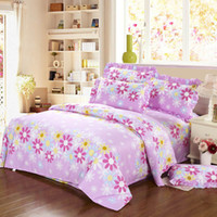 Adult Twill 100% Cotton New arrival 4pc 100%cotton fashion BRAND printed queen size pink bedroom set bed sheet bed linen bedding set duvet cover set comorter cover