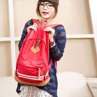 Wholesale S5Q Pig Nose Backpack Women Student School Bag Canvas Travel Rucksack AAACXP