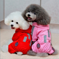 Raincoats Fall/Winter Unisex Hot Selling New Pet Beautiful Dog Raincoat Hoodie Hooded Waterproof Pet Clothes Apparel Pink Red wholesale H9859P-XS S M L XL