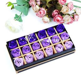 Wholesale Washing Cleaning Bath Rose Flower Paper Petals Soap Gift Organtic Wedding Gift Favor Mulit Color Soaps flowers B1