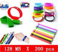 usb wristband - 200pcs X mb Silicone Wristbands USB Flash Pen Drive USB HOT sales high quality OEM service Brand New Genuine Capacital