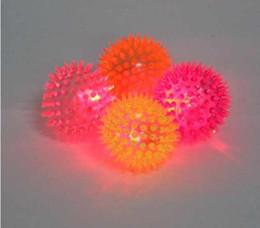 Wholesale Novelty Flashing LED Light Up Spikey Music Bounce Balls Sensory Translucent Toys