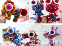 Multicolor small stuffed animals - Cute Manual Puppet Small Handcraft PP Cotton Cloth Buttons Dolls Stuffed Animals amp Plush Toys Mix Patterns