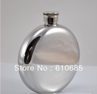 Wholesale Round Stainless Steel Hip Flask Personalized Stainless Steel oz Flask Initial Xmas gift