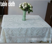 Wholesale Beige Lace Material Table Cloth Sofa Cushion Cover Plum Patterned Tablecloths Many Size For You To Choose