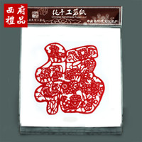 Wholesale Handmade paper paper cut art chinese style unique crafts gifts abroad