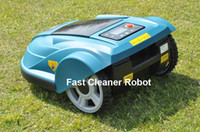 Wholesale 2014 Newest and Best Grass Robot Trimmer Robot Lawn Mower with Ultrasonic Sensor Subarea Compass Function Schedule Auto Recharge Remote