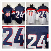 Ice Hockey Men Full 2014 Sochi Olympic Team USA #24 Ryan Callahan Blue White Hockey Jerseys Ice Winter Jersey Stitched on Size 48-56 Drop Shipping