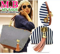 Wholesale Fashion Handbags for Women Messenger Bags Stripe Street Snap Candid Tote Canvas Shoulder Bag Chain Bag Shoulder Bags Stripe canvas bag Hot