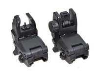 Wholesale Tactical Hunting Black Front and Rear Back Up Sight for mm Weaver Rail Mounts