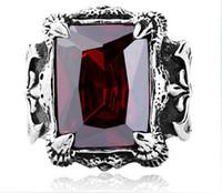 Wholesale 2014 men s Gemstone Rings Titanium Stainless steel punk Gemstone Ring Mix Size Jewelry Gift