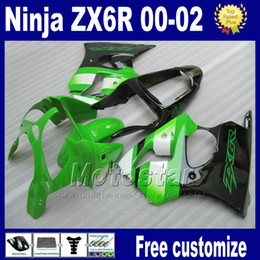 fairings kit for kawasaki ninja fairing ZX 6R 636 ZX-6R ZX636 ZX-636 2000 2001 2002 green black motorcycle parts ZX6R 00-02 Hy2