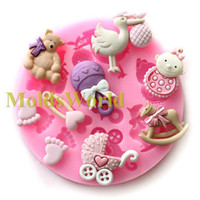 Cake Tools Silicone Rubber Eco-Friendly Mini Baby Doll Theme Food Grade Silicone Mold Chocolate Cake Decorating Heat Safe Mould For Polymer Clay Crafts