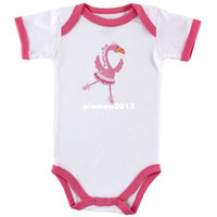 Unisex pink flamingos - Baby Sayings pretty in pink Flamingo Bodysuit Baby clothing Baby Girl Romper months