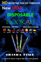 Wholesale New E Hookah Disposable pens SHISHA Time Cigarette Puffs Stainless tube fruit flavors No nicotine Colorful retail box