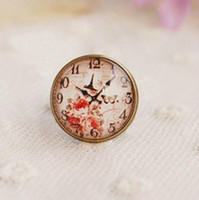 Glass Zinc Alloy Women Min Order $15(Can Mix Item) Bronze ring bird vintage clock vintage imitation time gem ring