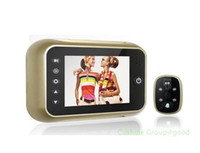 Wholesale Golden quot Monitor Door Doorbell Pee phole Viewer Camera Photo Video DVR degrees