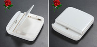 Wholesale 3 in Destop Micro USB Dock Station Charger Data Sync Cradle Extra Battery Docking Stand for Samsung Galaxy S3 S III i9300