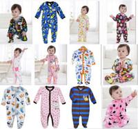 Wholesale Newborn romper Baby Rompers Fleece Foot Cover babywear Baby Sleepwear W153