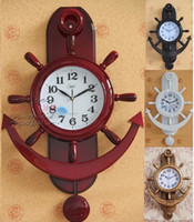 Wholesale Clock cm Large vintage fashion wall clock classical american living room decoration quartz clock and watch royal household ancient clock