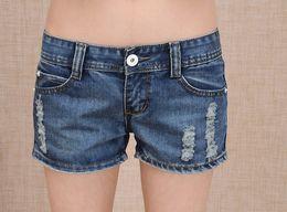 Wholesale Hot pants pants women cultivate one s morality show thin denim shorts in summer hole big lt lt lt lt uhgukg