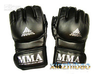 Wholesale MMA UFC Boxing Gloves Grappling Fight Sparring Kick Training black sporting