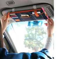 Wholesale car organizer bag colors multi purpose Sunvisor point pocket auto car hanging storage bag canvas