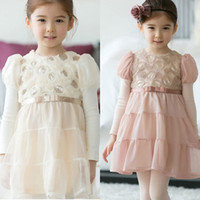 TuTu Spring / Autumn A-Line 2014 children dress new spring HOT DESIGN rose veil girls dress children's clothing wholesale princess DRESSES