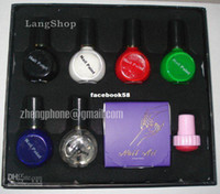 Manicure Kit No nail art Wholesale - 1pcs DIY Nail Art Stamping Kit nail art diy kit nail 6 bottle polish