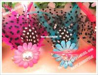 Headbands Cotton Animal Wholesale - 16pcs 1.5inch Hair Feather Flower +Baby Alligator Clip Women's Corsage Boutique Hairpin Kid Headwear