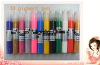 Wholesale 12 color pigment pen nail art brush painting painting tools D art pen nail supplies