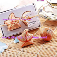 fish salt - Lowest Price pairs Seashell Sea Shell Star Fish Starfish Nautical Beach Ocean Salt Pepper Shakers