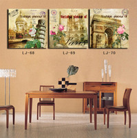 More Panel Art Prints Classical Floral Art Prints the red Rose Beautiful Wall Art Elegant Style Unframed Deco House or Office Hot Selling Top Home Decoration 44-30