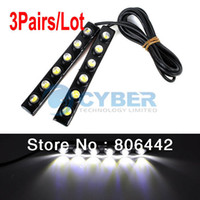 Light Sourcing External Lights Daytime Running Lights Cheap 3Pairs Lot 2X DIY 6 LED DRL Driving Daytime Running Light Lamp Bar Soft Head Car Light Super White TK0001