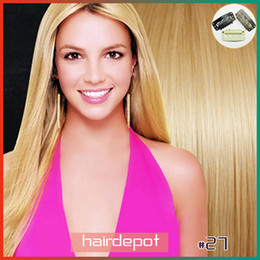 Remy clip in human hair extensions 22