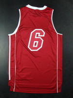 Wholesale Top Quality New Men s Revolution Swingman Basketball Jerseys Heat LeBron James Red Embroidery Logo Mix Order