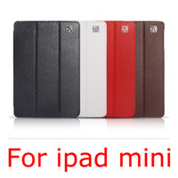 Protective Shell/Skin 7'' For Apple triple folded Genuine leather case for ipad mini Best Quality Cheap original icarer Leather Case For ipad mini Free Shipping