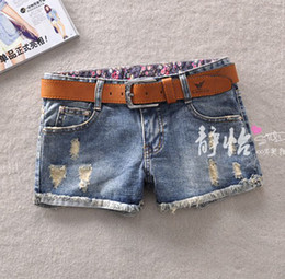 Wholesale Korean Style spring and summer fashion hole denim shorts women s personality cool short jeans pants high quality shorts