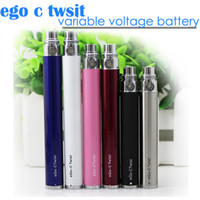 Electronic Cigarette Battery Stainless TOP Quality ego c twist battery electronic cigarette variable voltage A+ level core Ego twist battery for ce4 ce5 mt3 E cigarette atomizer